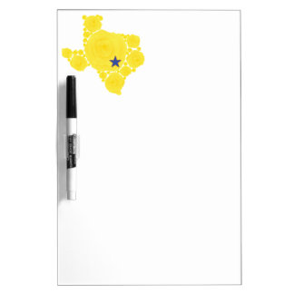 Yellow Rose of TX blue star Dry-Erase Board