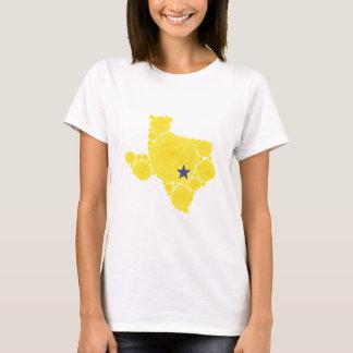 Yellow Rose of TX blue star T-Shirt