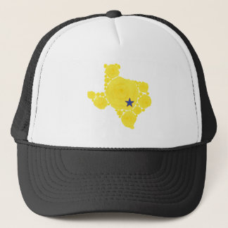 Yellow Rose of TX blue star Trucker Hat