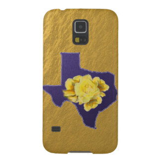 Yellow Rose on Blue Texas Galaxy Nexus phone case