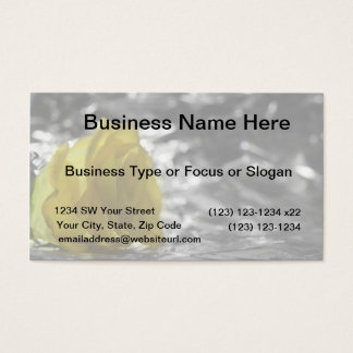 Yellow Rose On Left Side Silver Background Business Card