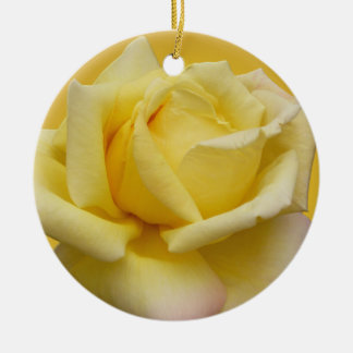 Yellow Rose Ornament Personalized Rose Decoration