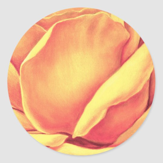 Yellow Rose Painting - Multi Classic Round Sticker
