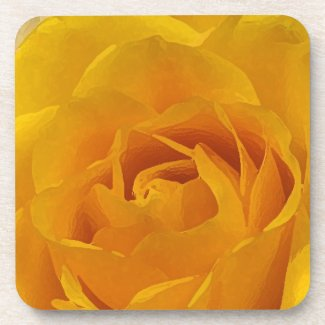 Yellow Rose Petals Coaster