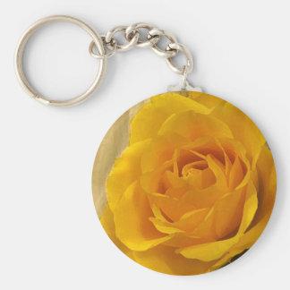 Yellow Rose Petals Keychain