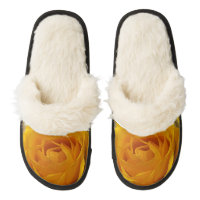 Yellow Rose Petals Pair of Fuzzy Slippers