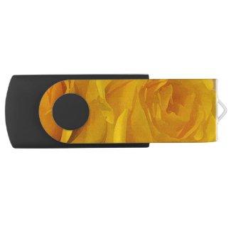 Yellow Rose Petals Swivel USB 2.0 Flash Drive