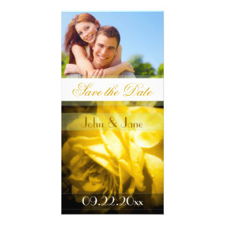 """Yellow Rose  /photo  """"Save the Date"""" Card"""