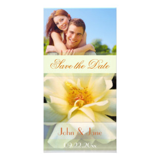 """Yellow Rose/photo  """"Save the Date"""" Card"""