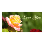 yellow rose picture card