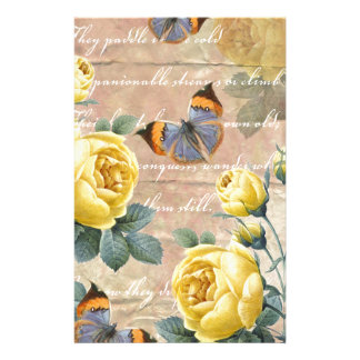 Yellow Rose Poetry Stationery