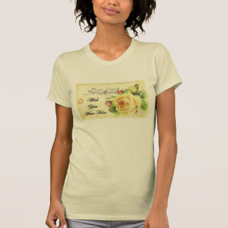 Yellow Rose Post Card Wish You Were Here Tee Shirts