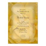Yellow Rose Post Wedding Brunch Invitation