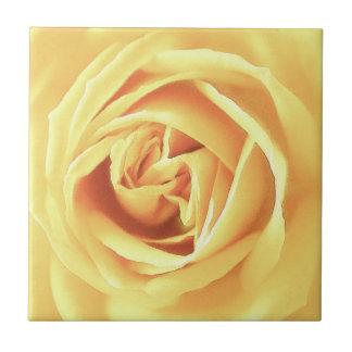 Yellow rose print ceramic tile
