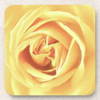 Yellow rose print coaster