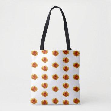 Beach Themed Yellow Rose Print Tote Bag