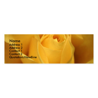 Yellow Rose, S Cyr Business Card Template