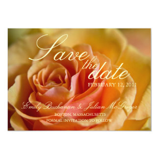 Yellow Rose • Save the Date Announcement