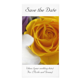 Yellow Rose Save the Date Card
