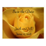 Yellow Rose, Save the Date, Postcards