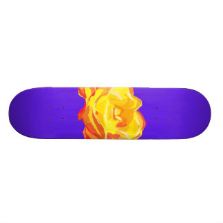 Yellow Rose Skate Board Decks