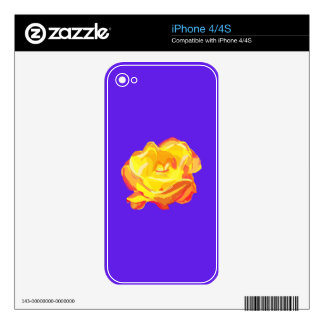 Yellow Rose Skins For iPhone 4S