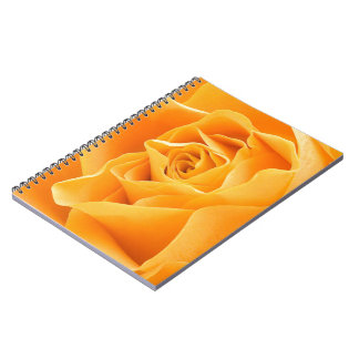Yellow Rose Spiral Note Books