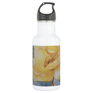 Yellow rose stainless steel water bottle