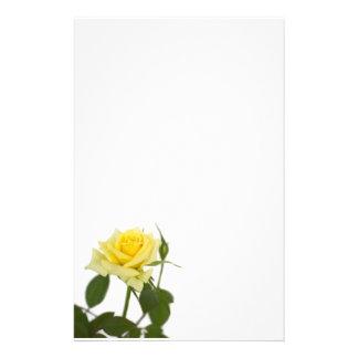 Yellow rose customized stationery