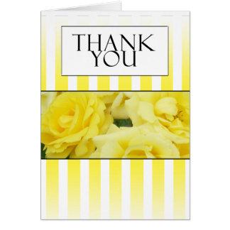 yellow rose strip thank you card