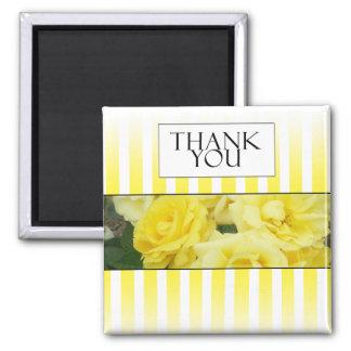 yellow rose strip thank you card fridge magnets
