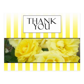 yellow rose strip thank you card postcard