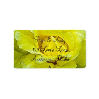 Yellow Rose, Stylish, Polished, & Classy Wedding Address Label