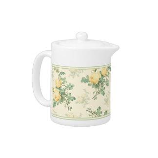 Yellow rose teapot decorative home kitchen gift