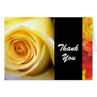 Yellow Rose Thank You Card