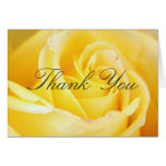 Yellow Rose Thank You Cards
