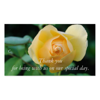 Yellow Rose Thank you Gift Tag Business Card