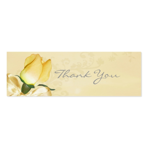 Yellow Rose Thank You Note Double Sided Mini Business Cards Pack Of 20 Zazzle