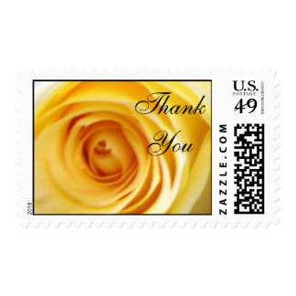 Yellow Rose Thank You Stamp