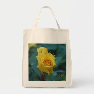 Yellow Rose Tote Bags