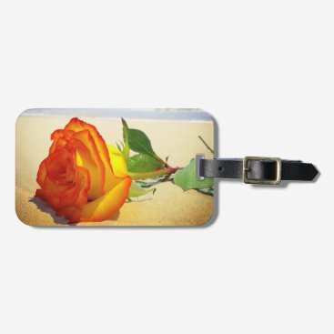 Beach Themed Yellow Rose Travel Luggage Tag