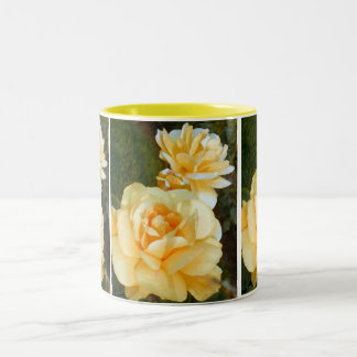 Yellow Rose_ Two-Tone Coffee Mug