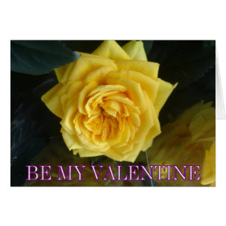 Yellow rose valentine card