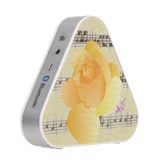 Yellow Rose& Vintage SheetMusic Bluetooth Speaker
