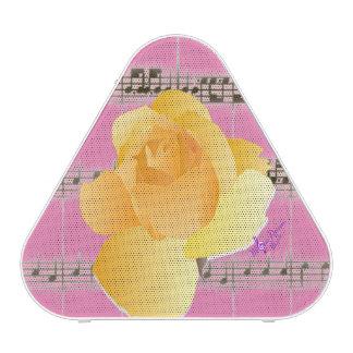 Yellow Rose& Vintage SheetMusic Pink Speaker