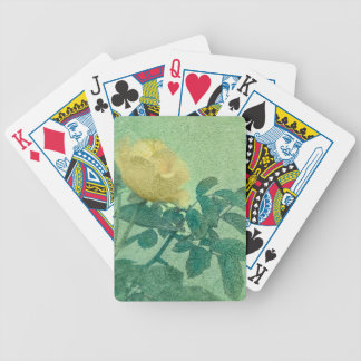 Yellow Rose Vintage Style Photo Bicycle Playing Cards