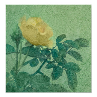 Yellow Rose Vintage Style Photo Print