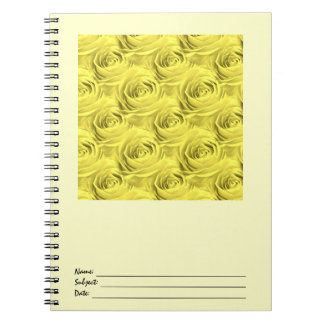 Yellow Rose Wallpaper Pattern Note Book