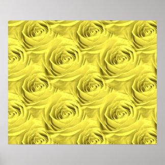 Yellow Rose Wallpaper Pattern Print