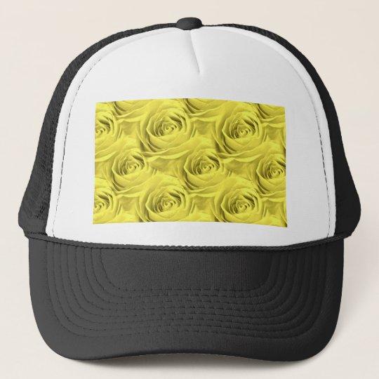 Yellow Rose Wallpaper Pattern Trucker Hat